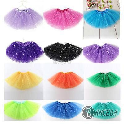 Пышные цветные детские юбка-пачка с блестками для танцев «Звезда»