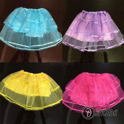 Двухслойная пышная юбка для танцевального костюма с атласными лентами