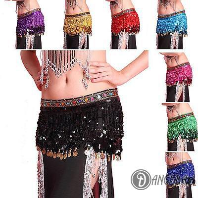 Юбка многослойная цветная для танцев живота, с декоративными элементами