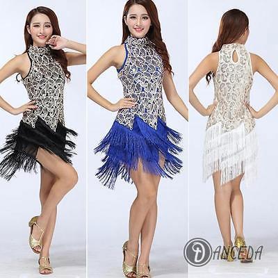 Короткое платье с косой юбкой для латиноамериканских танцев