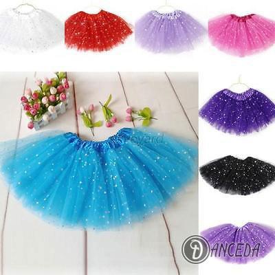 Юбка пачка цветная с блестками для танца и занятий балетом
