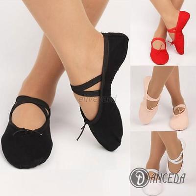 Гимнастическая обувь для девочек и женщин. Цветные пуанты