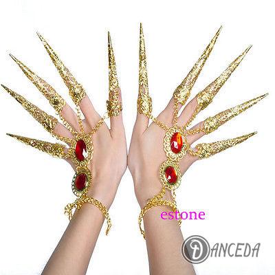 Ювелирные декоративные кольца для пальцев, элемент костюма для восточных танцев