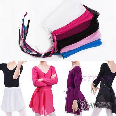 Шифоновые цветные шарфи-юбки для детского танцевального костюма