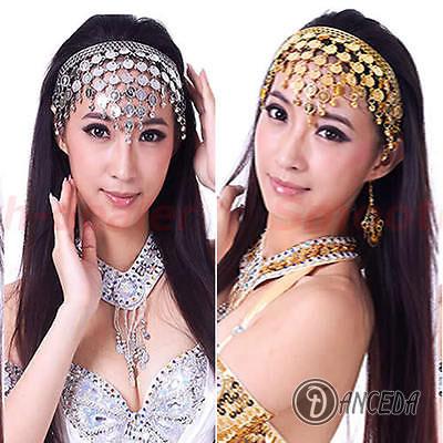Танцевальные украшения для лица, головы и волос с монетами